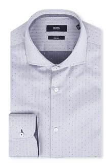 HUGO BOSS Jery polka-dot single-cuff cotton shirt