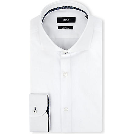 HUGO BOSS Jery slim-fit single-cuff shirt (White