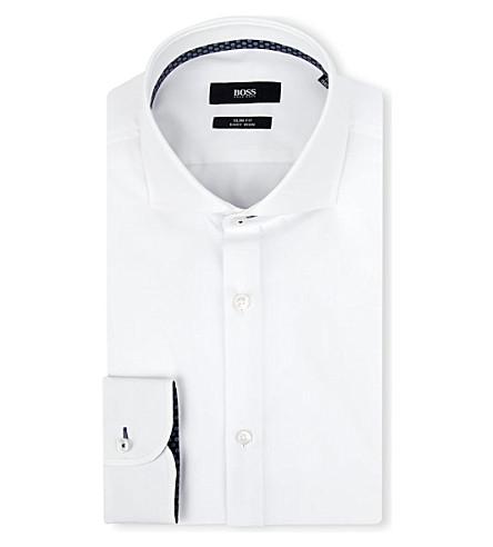 HUGO BOSS Jery slim-fit single-cuff shirt (White