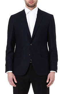 HUGO BOSS Jet basketweave wool-blend jacket