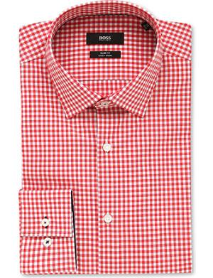 HUGO BOSS Joey gingham-printed cotton shirt