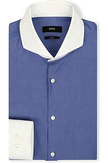 HUGO BOSS Slim-fit cutaway collar shirt