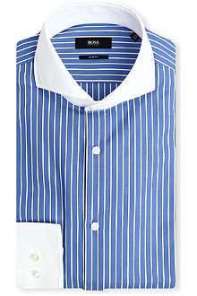 HUGO BOSS Johan slim-fit single-cuff shirt