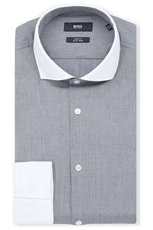 HUGO BOSS Jonah slim-fit single-cuff shirt