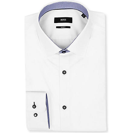HUGO BOSS Juri slim-fit shirt (White