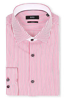 HUGO BOSS Juri striped slim-fit single-cuff shirt