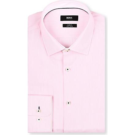 HUGO BOSS Juri slim-fit striped shirt (Pink