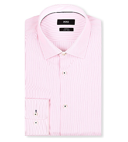 HUGO BOSS Juri slim-fit striped shirt (Pink