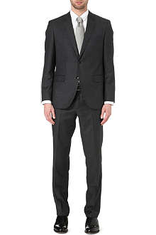 HUGO BOSS Keys/Shaft wool and silk-blend suit