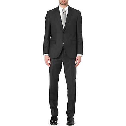 HUGO BOSS Keys/Shaft wool and silk-blend suit (Charcoal