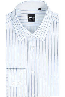 HUGO BOSS Regular-fit dobby-stripe shirt