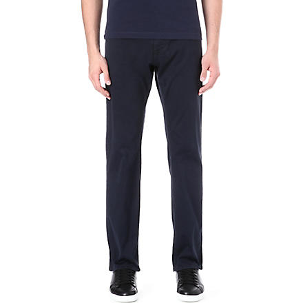 HUGO BOSS Regular-fit straight gabardine chinos (Navy