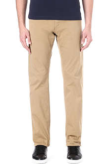 HUGO BOSS Regular-fit straight gabardine chinos