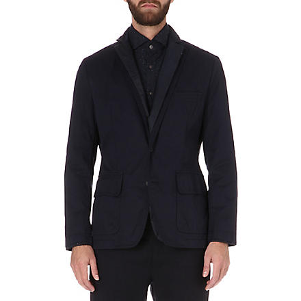 HUGO BOSS Malthew detachable-insert jacket (Navy