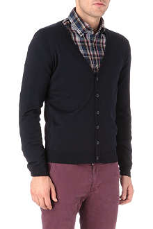 HUGO BOSS V-neck wool knitted cardigan