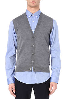 HUGO BOSS Medrick sleeveless cardigan