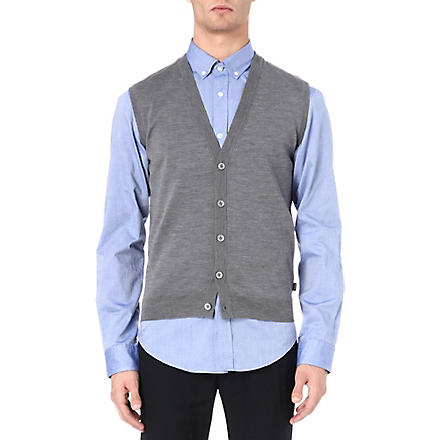 HUGO BOSS Medrick sleeveless cardigan (Silver