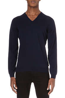 HUGO BOSS Merino v-neck jumper