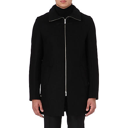 HUGO Mepko wool-blend coat (Black
