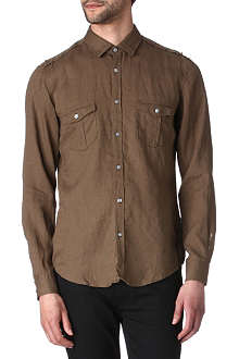 HUGO BOSS Michele linen shirt