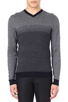 HUGO BOSS Ombre v-neck jumper