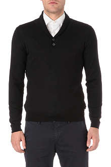 HUGO BOSS Shawl neck jumper