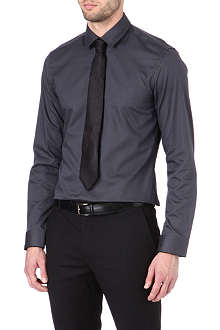 HUGO BOSS Slim-fit honeycomb shirt