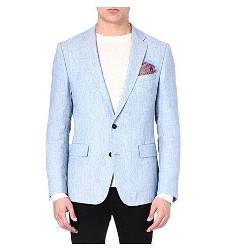 HUGO BOSS Linen mix blazer (Blue