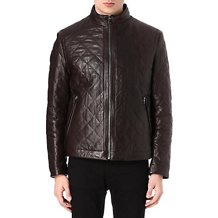HUGO BOSS Nuro quilted shearling jacket (Brown