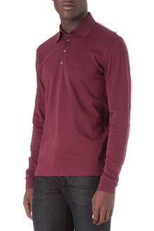HUGO BOSS Long-sleeved jersey polo shirt