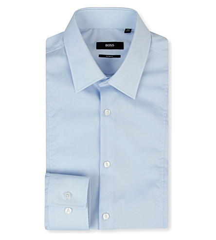 HUGO BOSS Phillo slim-fit single-cuff shirt (Blue