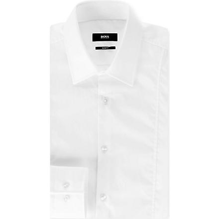 HUGO BOSS Phillo slim-fit single-cuff shirt (White