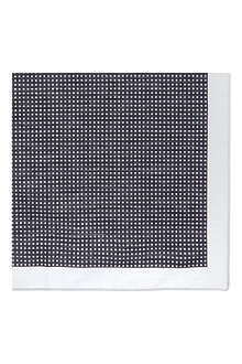 HUGO BOSS Mini polka dot cotton pocket square