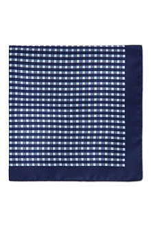 HUGO BOSS Silk polka dot pocket square