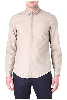 HUGO BOSS Raffaele slim-fit contrast-collar shirt