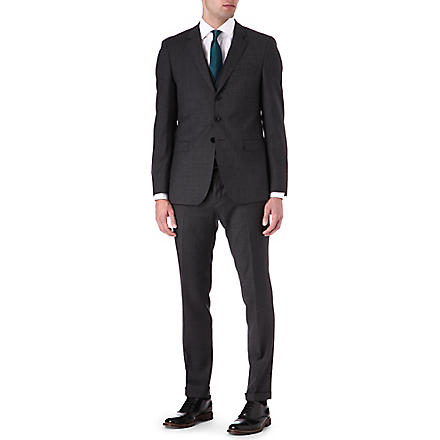 HUGO BOSS Resko/Wize WE three-piece wool suit (Black