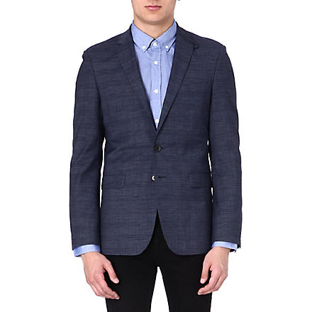 HUGO BOSS Check blazer (Navy