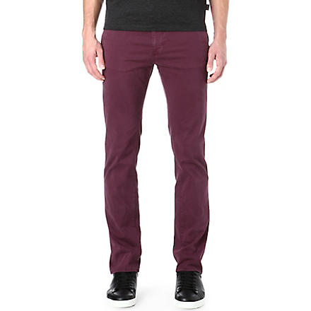 HUGO BOSS Slim stretch-cotton trousers (Pink