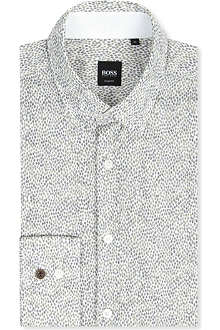 HUGO BOSS Diamond-print shirt
