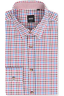 HUGO BOSS Ronny Oxford check shirt