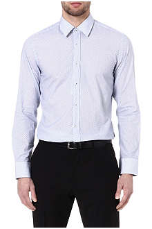 HUGO BOSS Retro print slim-fit shirt