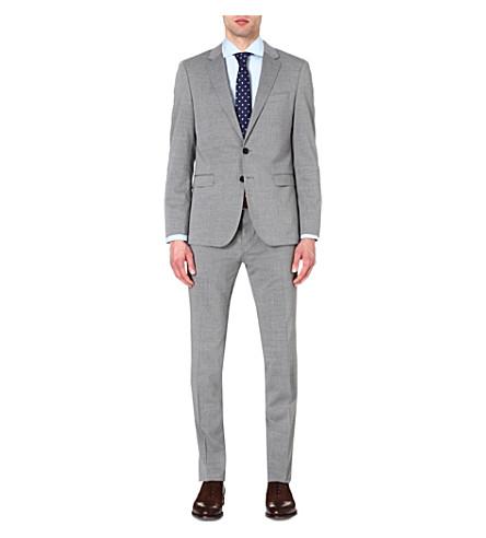 HUGO BOSS Slim-fit wool-blend suit (Grey