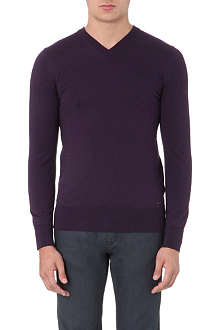 HUGO Sacaraslio v-neck merino wool jumper