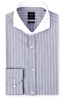 HUGO BOSS Sanders striped slim-fit shirt