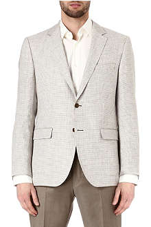 HUGO BOSS Smith puppytooth linen jacket