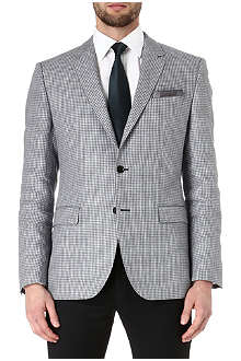 HUGO BOSS Smith dogtooth linen jacket