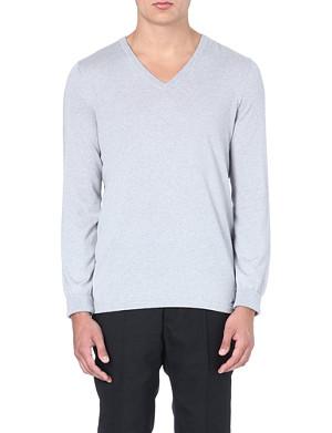 HUGO Sorinus silk and cashmere-blend jumper