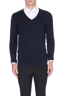 HUGO Sorinus silk and cashmere-blend jumper