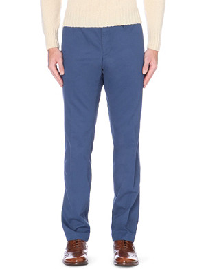 HUGO BOSS Slim-fit tapered mid-rise stretch-cotton chinos