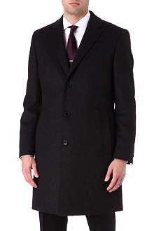 HUGO BOSS Wool and cashmere-blend Stratus overcoat